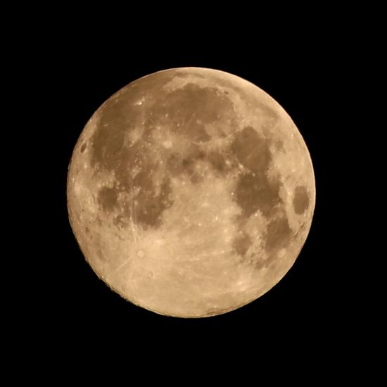 View of full moon at night