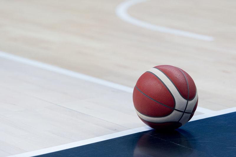 High angle view of basketball hoop on table