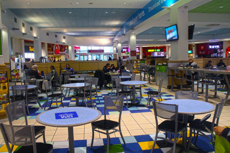 Food court in Coquitlam Centre Mall Food Court Coquitlam Centre Mall Coquitlam People Day Adult