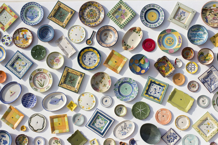 Abundance Button Ceramics Choice Close-up Collection Colorful Colors Colourful Colours Day Directly Above Indoors  Large Group Of Objects Multi Colored No People Pattern Plate Plates Portugal Retail  Sagres The Street Photographer - 2017 EyeEm Awards Variation Vibrant