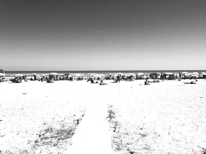 summer beach Seascape Photography Seascape Blackandwhite Summertime Summer Onthebeach Sky Copy Space Water Nature Day Scenics - Nature Beauty In Nature Tranquility Clear Sky Horizon Sea Horizon Over Water Beach