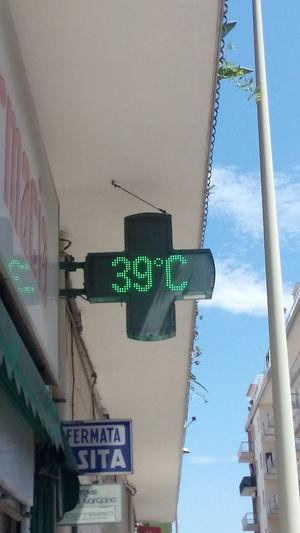 Ahia che caldo, Ay que calor, Hot Hot Temperatura Gradi Celsius