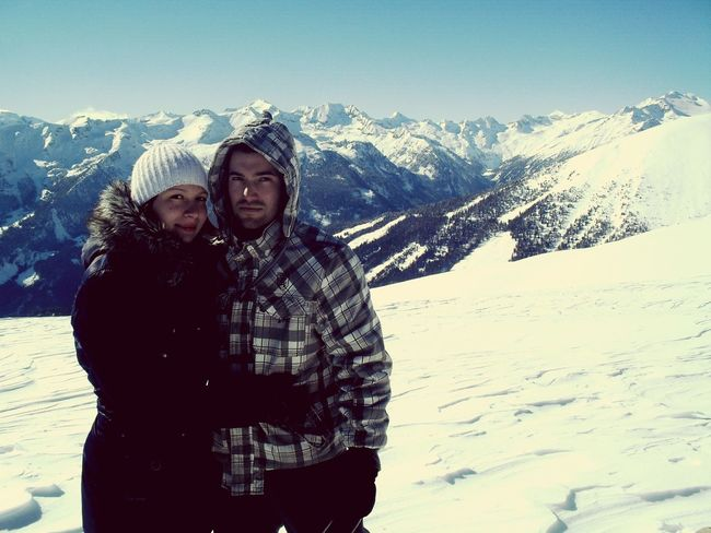 My Boyfriend And I  The Moment In Austria Winter Mountains Sunny Sunny Day One Day Good Times In Nature  Couple