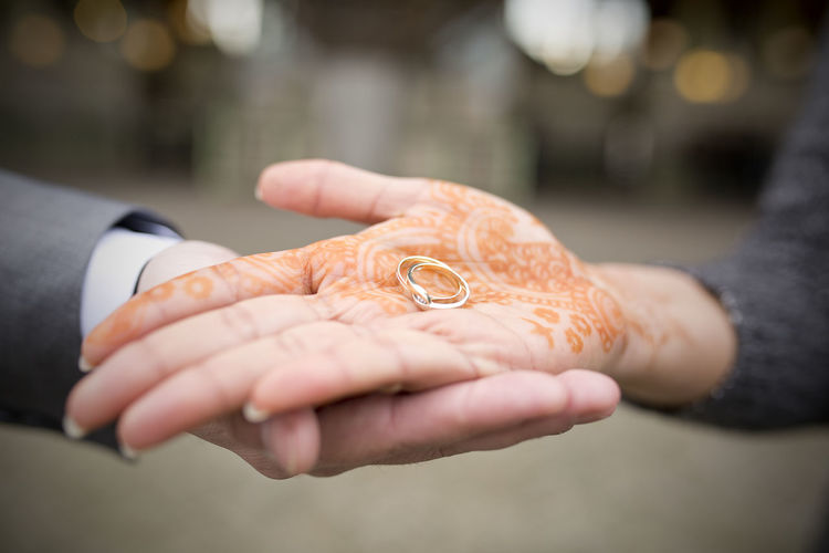 Our hands connected with rings Bokeh Close-up Couple Cropped Depth Of Field Detail Holding Human Hand Indian Culture  Marriage  Wedding Wedding Photography Wedding Rings