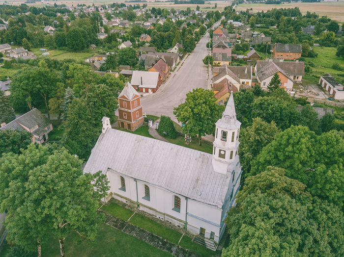 High angle view of church