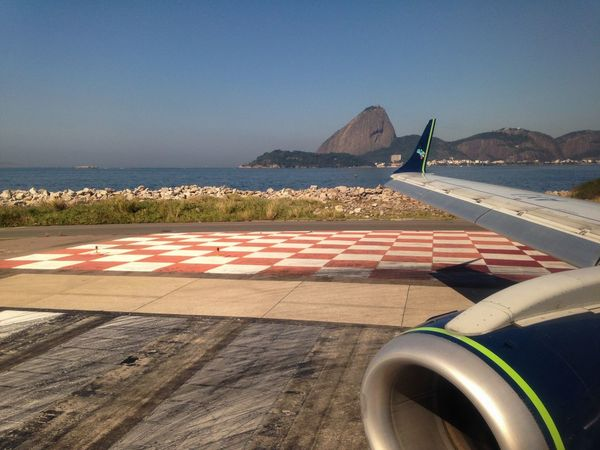 Pão De Açucar visto da pista do Aeroporto Santos Dumont Sugarloaf Rio De Janeiro Brazil Brasil Landscape