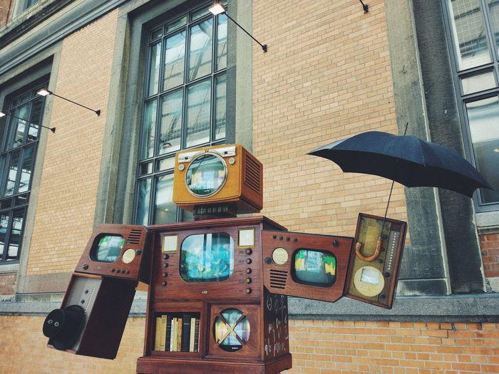 Day No People Tv Umbrella Modern Art Fun