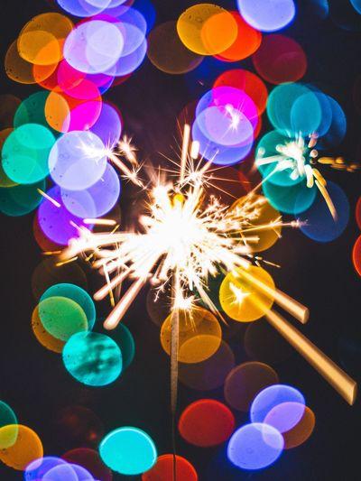 Multi Colored Illuminated Celebration No People Holiday - Event Night Sparkler Party - Social Event Close-up Indoors  TheWeekOnEyeEM TheWeek On EyEem