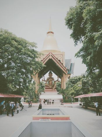 Place Of Worship Tree Sky Fog Architecture No People Outdoors Day Landscape Beauty In Nature History Culture Indonesia Culture Street Photography Carnival Crowds And Details Crowds Crowd Festival Parade Happiness INDONESIA