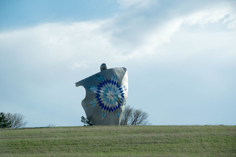Dignity Native American Indian South Dakota Statue Beauty In Nature Chamberlain Cloud - Sky Day Environment Field Grass Growth Horizon Horizon Over Land Land Landscape Native American Nature No People Non-urban Scene Outdoors Plant Scenics - Nature Sky Tranquil Scene Tranquility