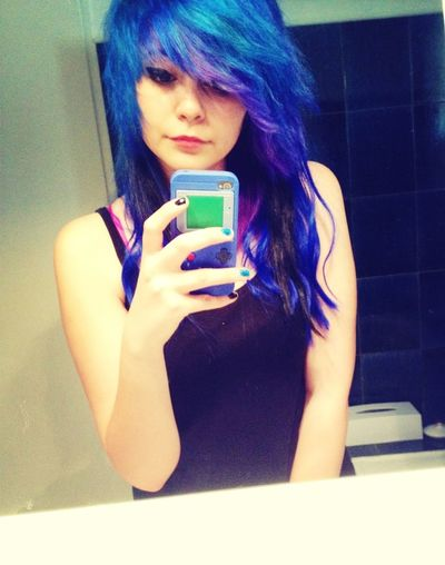 Bored Blue Useless Colored Hair