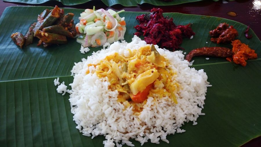 No People High Angle View Food Freshness Close-up Fried Rice Ready-to-eat Flower Indoors  Day Indian Style Indian Food At Its Best Indian Cuisine Banana Leaf