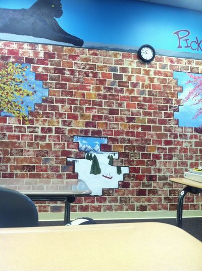 This study hall is like jail might as well look at the wall