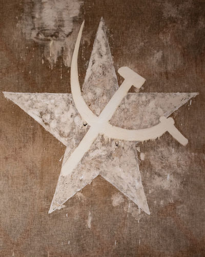 Star Shape Shape No People Wood - Material Studio Shot Decoration Sickle And Hammer Ussr Russia Comunism Socialism History