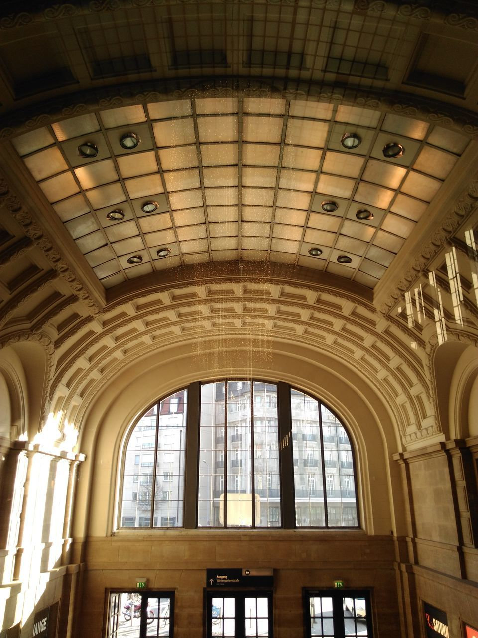 indoors, window, architecture, built structure, low angle view, day, no people