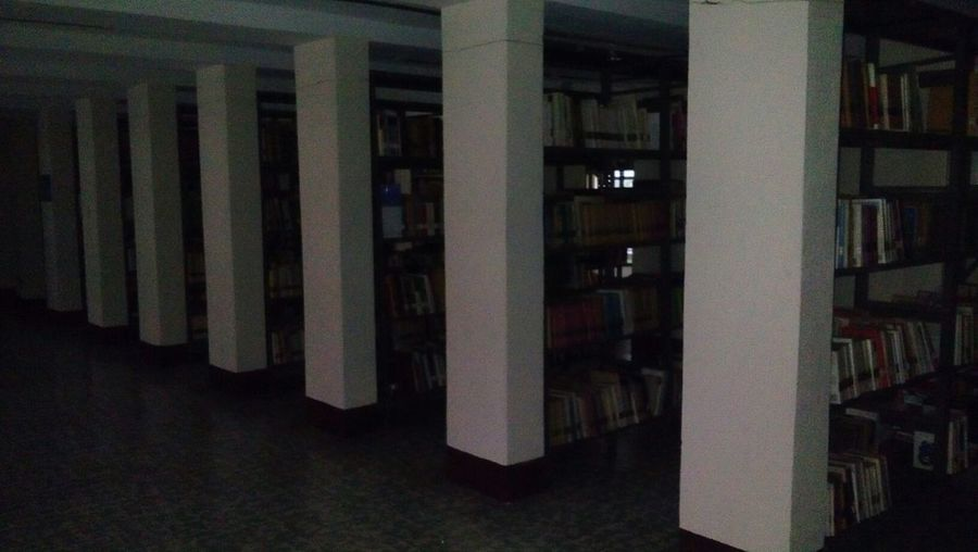 Architectural Column Architecture Built Structure Indoors  No People Library Day Bookshelf