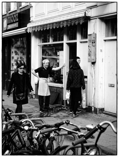 fun at work Cleaning Old-fashioned Worker Amsterdamcity Architecture Blackandwhite Day Lawoe Men Outdoors Real People Streetphotography
