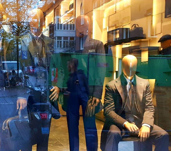 Reflection Architecture Building Exterior Built Structure Business Businessman City Day Look Twice Manakin Men Outdoors People Real People Reflection_collection Suited And Booted Well-dressed
