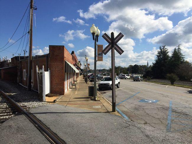 Angles Railroad Bluesky Downtown
