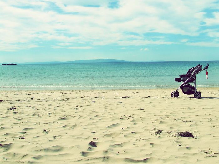 Beach buggy Sea Beach Horizon Over Water Sand Water Sky Tranquility Nature Scenics Beauty In Nature Day Outdoors No People My Year My View Beachphotography Ocean Waves Ireland🍀 Travel Photography Irish Tranquil Scene