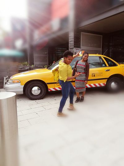 Yellow Taxi Posing For The Camera Milton Keynes Popular Photos Iconic Taxi