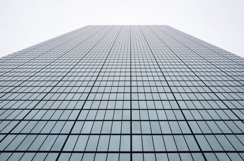 Looking up at the John Hancock Building skyscraper Architecture EyeEmNewHere Grid Office Perspective Skyscrapers Architecture Building Exterior Cartesianplane City Clear Sky Day Glass Horizon Low Angle View Modern No People Office Building Outdoors Sky Skyscraper Symmetry Tall Tron Vertical EyeEmNewHere