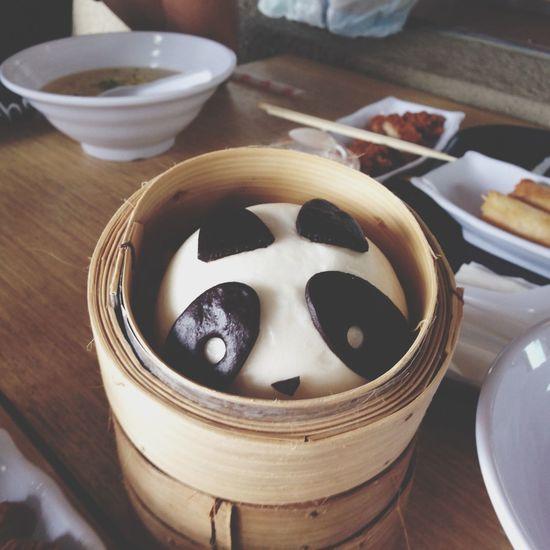 Panda red bean buns after a tiring day (-: