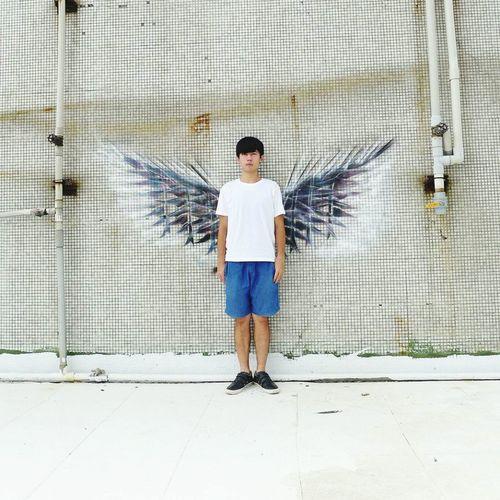 我想要一對翅膀 I Would like be a wings to take as Tatoo Wingman Wings Hello World Taking Photos