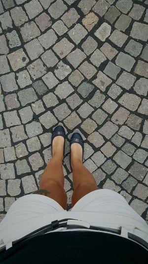 Low Section Person Footwear Personal Perspective Lifestyles Standing Shoe Footpath Human Foot Outdoors Young Adult Stonestreet Stones Pflastersteine Tomtailor Ballerinas City City Life Cityview Villingen-schwenningen Villingen Heimat Walking Memories Hotpants