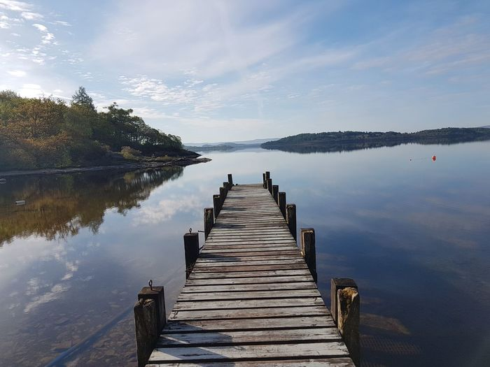 Lake view  walking into tranquiliry