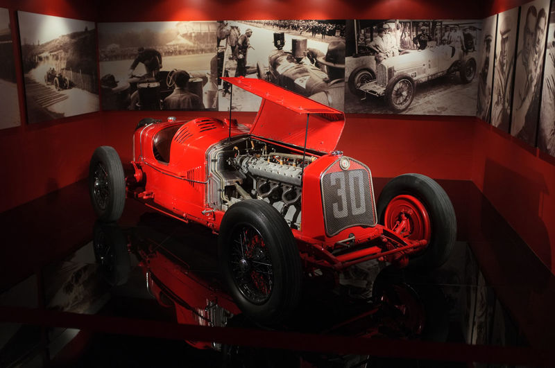 Alfa Romeo P2 Race Car (1930) in the National Automobile Museum in Turin (Museo dell'Automobile di Torino) 1930 1930s Alfa Romeo Antique Classic Classic Car Machine Power Retro Car England Exhibition Indoors  Motor Vehicle Museum No People P2 Race Car Red Speed Turin