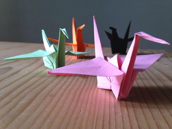 Origami Cigni Cranes Coloured Cranes Paper Cranes Handmade Japanese Art Japanese Tradition Handcraft Ultimate Japan