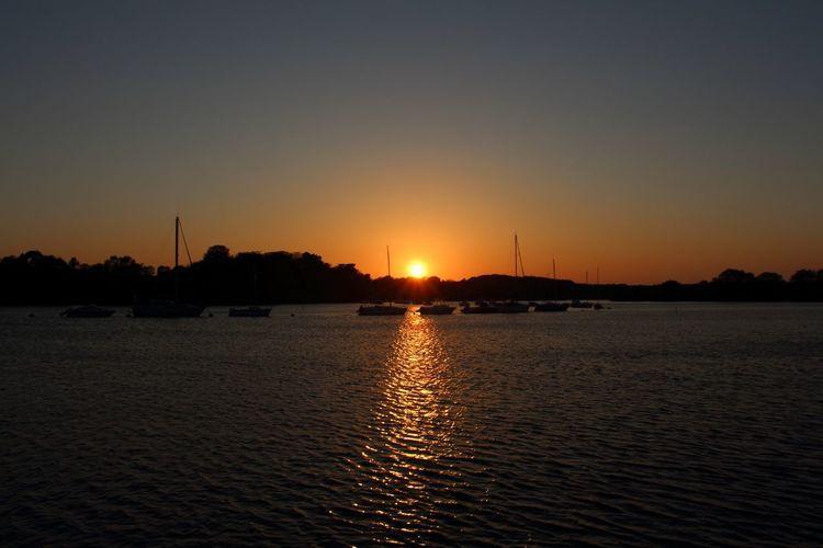 Coucher de soleil depuis Conleau à Vannes en Bretagne