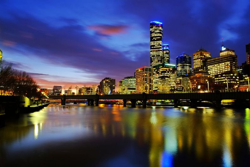 Yarra River Melbourne Blue Hour Australia Yarra Architecture Blue Hour Cityscape Building Exterior Built Structure City Cityscape Cloud - Sky Illuminated Melbourne Modern Night No People Reflection River Sky Skyscraper Water Waterfront Yarra River