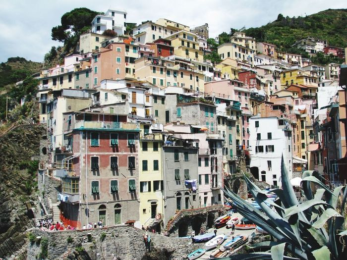 Architecture Building Exterior Residential Building Cityscape Outdoors No People City Apartment Day Sky Vacations Beach Architecture City Travel Destinations Cinque Terre Travel