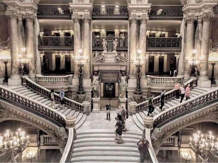 Opéra Garnier Paris Operanationaledeparis Stairs Staircase Seeandbeseen Architecture Baroquerevival Operagarnier