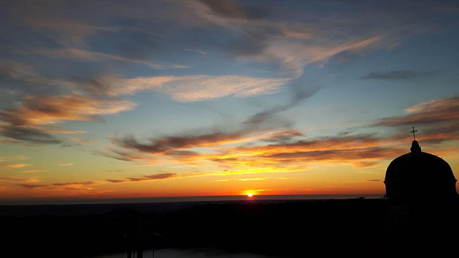 Sunset Spirituality Silhouette Religion Sky Landscape Architecture Cloud - Sky