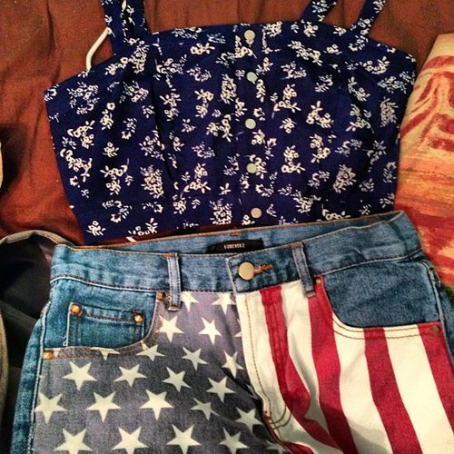 Everyday should be Flag day. Americanflagshorta MadeinamericaOutfit