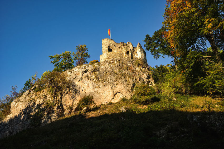 autumn hike Perfect Day Sparbüchse Built Structure Castle Ruin Hidden Places Hike