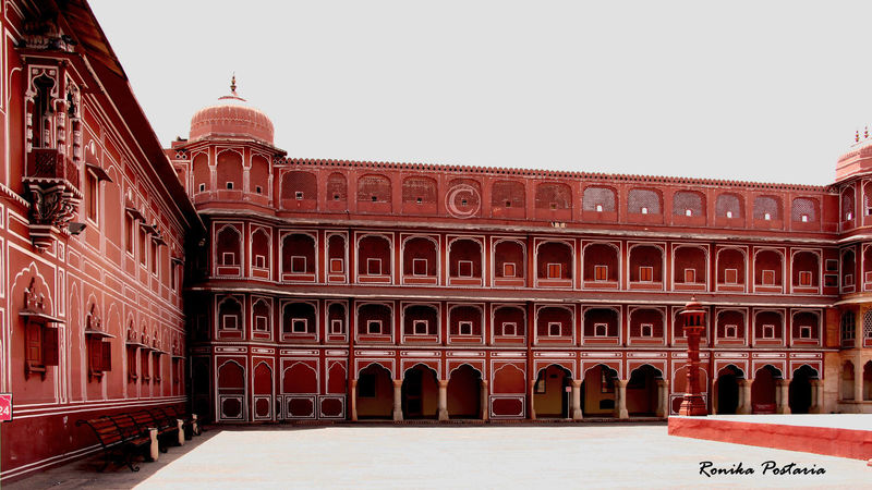 Jaipur City Palace #city Palace #History #Light & Shadow #palace #pinkcity #vastness Angles And Lines Architecture Building Exterior Built Structure Cultures Geometry Pattern No People Outdoors Patterns & Textures Travel Destinations Viewpoint Miles Away Millennial Pink