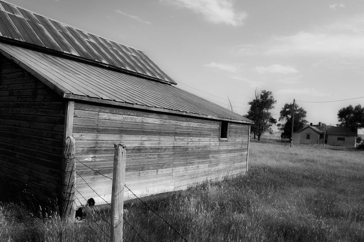 Barn Architecture Black And White Photography Built Structure Facing South North Of Lusk Wyoming On A Country Road Out In The Boondocks Outdoors