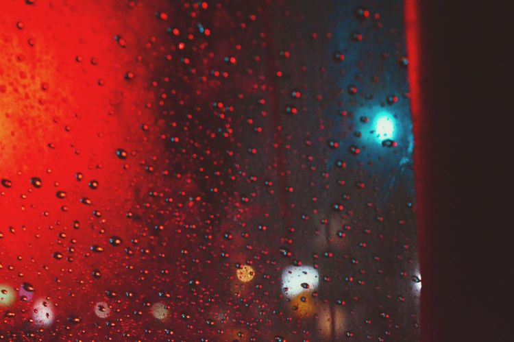 After rain Nightphotography After The Storm After Dark Windshield Shots Windsheild Abstract Backgrounds Water Close-up Motion Particle The City Light