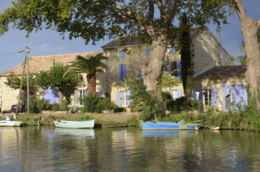 Canal du midi France Canal LeBoat Nature River Water Waterfront Beauty In Nature House