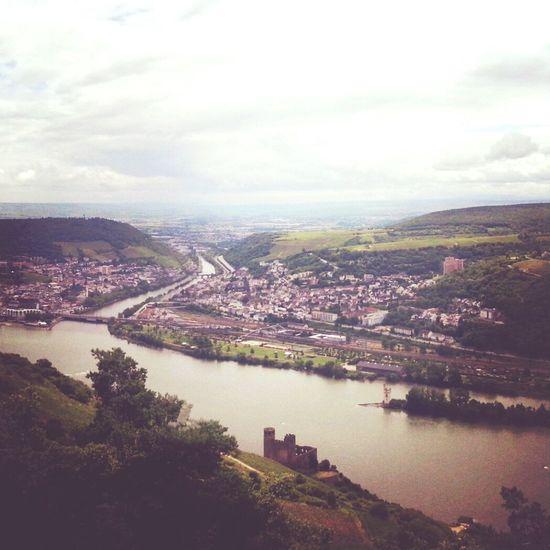 Blick vom Rossel nach Bingen am Rhein