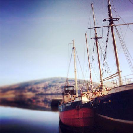 Scotland Inverary Loch  Boat Summer Calm Uk Britain United Kingdom