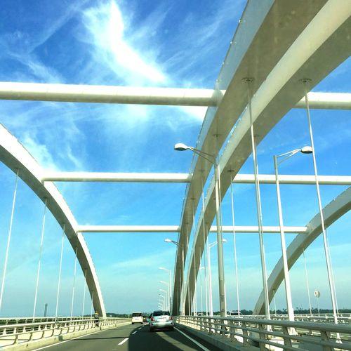 STLSQA Cityscapes Cityscape Bridge Blue Sky Blue And White Sky And Clouds Sky Fukuoka EyeEm Meetup Fukuoka