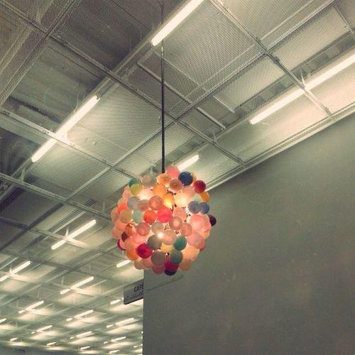 Low angle view of light bulbs