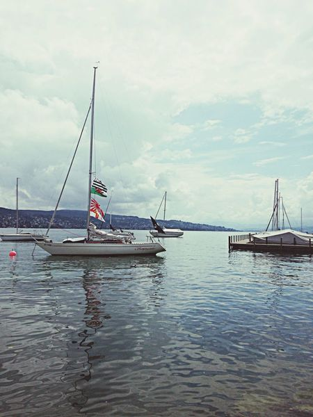 My new favourite place. Zürich Lake View Boats Water Reflections