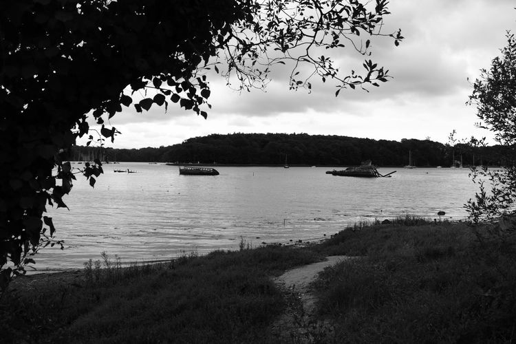 Lorient Kerhervy Morbihan 56 Bretagne France Cemetery In Boats Brittany In Black And White Monochrome_Photography Landscape_Collection