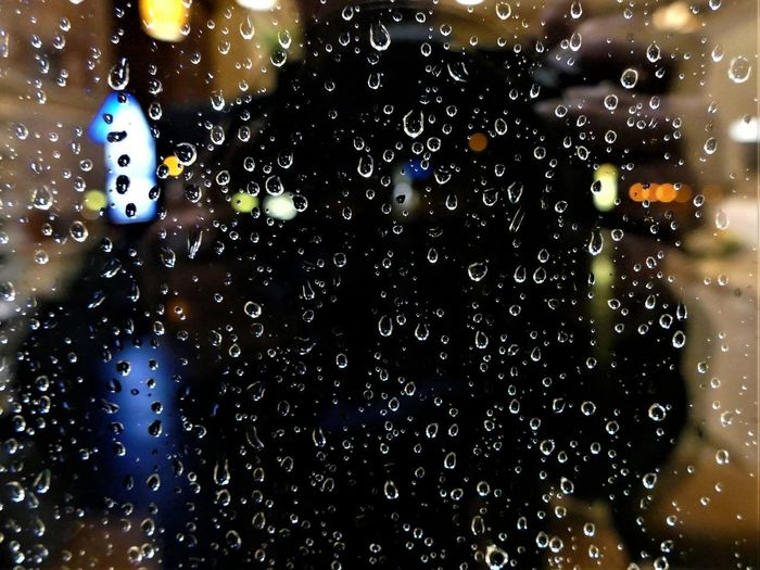 illuminated drops 5 Drop Water Wet Window Glass - Material Rain Transparent No People Illuminated Nature Close-up Indoors  RainDrop Rainy Season Focus On Foreground Backgrounds Night Glass Purity Blue White Color Highligted
